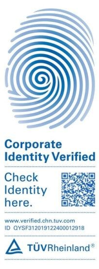 TUV Corporate Identity Verified from GISON