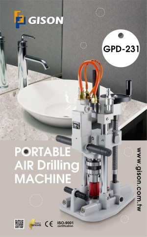 GPD-231 Portable Air Drilling Machine (include Vacuum Suction Fixing Base) Poster
